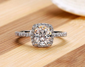 halo cut diamond ring 2 carat